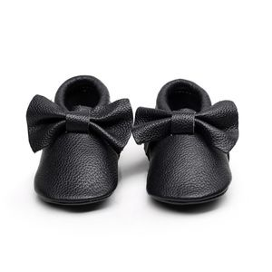 Other - Black leather soft sole baby toddler moccasins